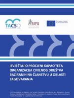 Izvjestaj o procjeni kapaciteta organizacija civilnog