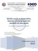Karcinom ovarija S1 smjernice - Portal Hrvatskog društva za