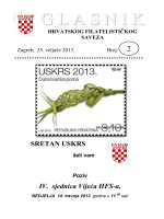 Glasnik Hrvatskog filatelističkog saveza br. 2/13