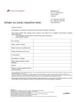 Zahtjev za izradu mjesečne karte