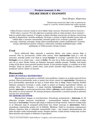 D. Hrupec, Povijest znanosti, 3. dio