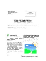 EDUKATIVNA RADIONICA INTERAKTIVNOG U ČENJA