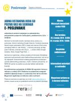 Detalji o seminarima i program