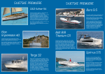 Popis premijera - Biograd Boat Show