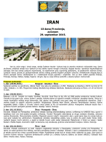 IRAN – polazak 29.09.