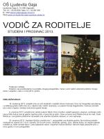 VODIČ ZA RODITELJE - Osnovna škola Ljudevita Gaja Zaprešić