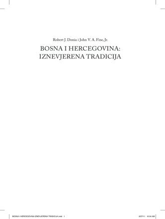 Bosna i Hercegovina iznevjerena tradicija