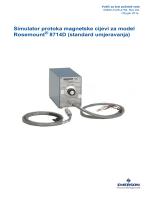 Simulator protoka magnetske cijevi za model Rosemount® 8714D