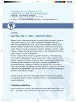 simptom suhih usta - Ordinacija Dubravka Matančević