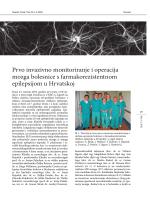 Prvo invazivno monitoriranje i operacija mozga bolesnice s