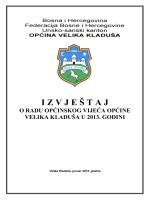Izvještaj o radu Općinskog vijeća Velika Kladuša za 2013. godinu