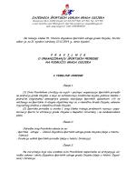 Pravilnik o organiziranju športskih priredbi na području grada Osijeka