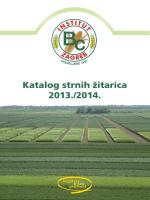 Katalog strnih žitarica 2013./2014.