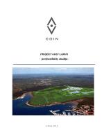 PROJEKT GOLF LARUN - prefeasibility studija -