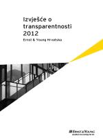 Izvješće o transparentnosti 2012