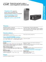 Silentherme električni – Tehnički katalog