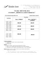 """VELIKI DRVENIK 2014 PANSION """"PRIMUS-LAURUS"""