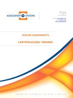 HOGAN assessment brošura