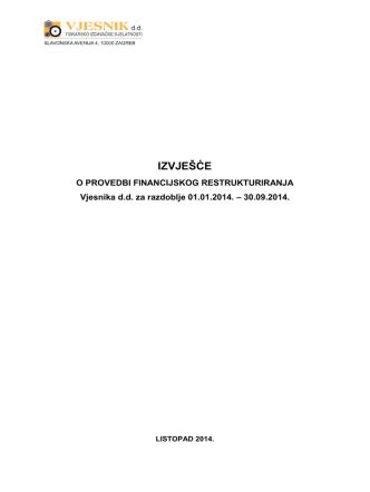 2014-09-30-izvjesce-o-provedbi-fin-restrukturiranja