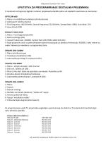 Uputstvo za programiranje digitalnih prijemnika