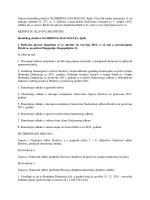 Poziv za glavnu skupštinu - Materijali za glavnu skupštinu 2013
