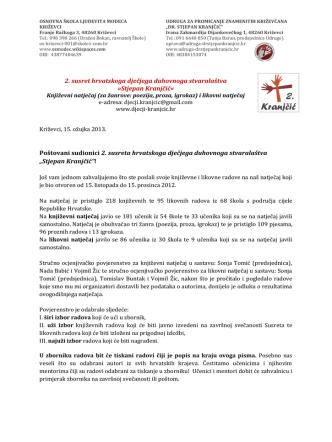 2. susret hrvatskoga dječjega duhovnoga stvaralaštva