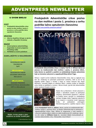 Broj 43 - Kršćanska adventistička crkva
