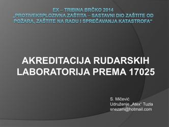 akreditacija rudarskih laboratorija prema 17025