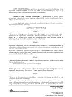 NAZIV ORGANIZACIJE, sa sjedištem u (grad
