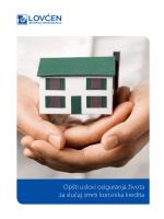Opšti uslovi osiguranja života za slučaj smrti korisnika kredita