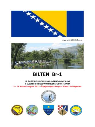 BILTEN Br-1 - Službena stranica Sportsko ribolovnog saveza