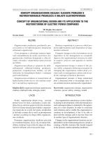 koncept organizacionog dizajna i njegova primjena u