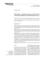 BIOMEDICINSKA ISTRAŽIVANJA Morfološka i topografska analiza