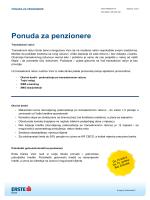 Ponuda za penzionere