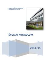ŠKOLSKI KURIKULUM - Osnovna škola Kajzerica