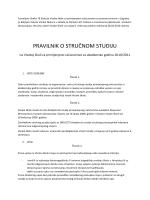 Pravilnik o studiju 2010/2011 - Visoka škola za primijenjeno