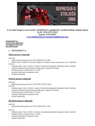 4. hrvatski kongres o prevenciji i rehabilitaciji u