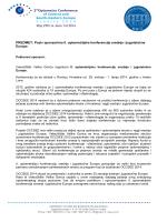 Poziv sponzorima II. optometrijske konferencije srednje i jugoistočne