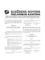 Službene novine Tuzlanskog kantona broj 1