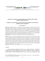 Eksterna i interna strategija hrvatskih proizvodnih poduzeća