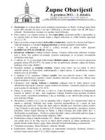 Župne Obavijesti 8. prosinca 2013. – 2. došašća