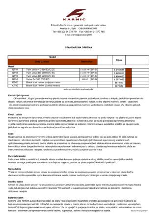 CE certifikat ,10 god garancije na trup plovila