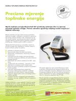 Precizno mjerenje toplinske energije