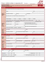 Obrazac za prijavu i odštetni zahtjev iz osiguranja AO
