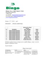 «Bingo» d.o.o. export-import, Tuzla Bosanska poljana bb 75000