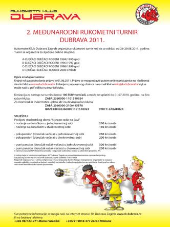 2. međunarodni rukometni turnir dubrava 2011.