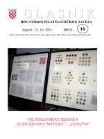 Glasnik Hrvatskog filatelističkog saveza br. 10/11