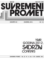 UDK 656 ISSN 0351-1898 GODI[TE 32 ZAGREB, 2012. Br. 1-6