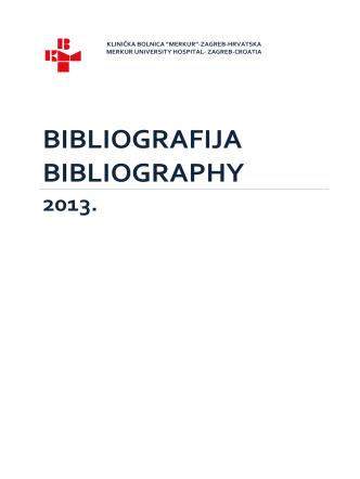 BIBLIOGRAFIJA KB MERKUR