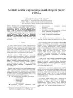 Kontakt centar i upravljanje marketingom putem CRM-a